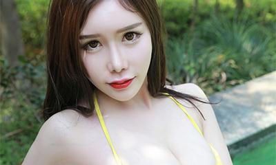 75F爆乳女神于姬Una泳池高清写真[30P]