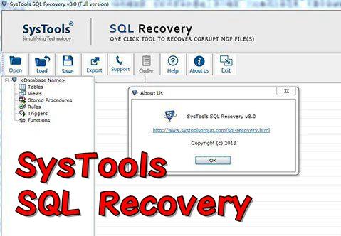���恢�凸ぞ�SysTools SQL Recovery