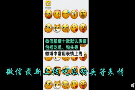 微信新表情包吃瓜上线  微信新上线的表情在哪里看