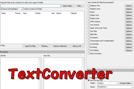 TextConverter文本批量处理工具