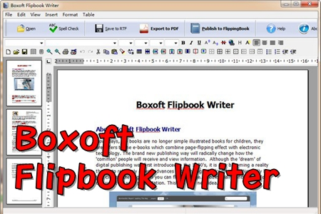 Boxoft Flipbook Writer翻页书制作工具
